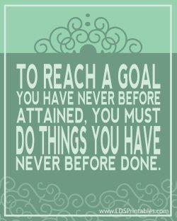 to reach a goal (sm)