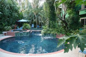 The clothing optional pool at the Green House Inn, New Orleans.