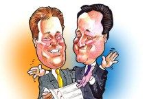 David Cameron and Nick Clegg cartoon