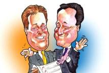 David Cameron and Nick Clegg cartoon