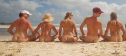 Nudists on Beach